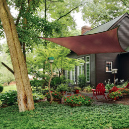 16 ft. / 4,9 m Square Shade Sail – Terracotta 230 gsm