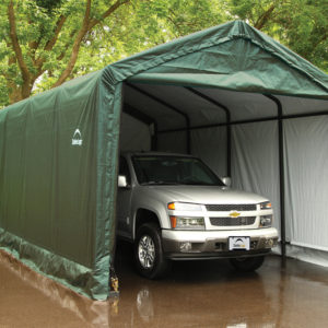 12x20x11 ShelterTUBE Storage Shelter, Green Cover
