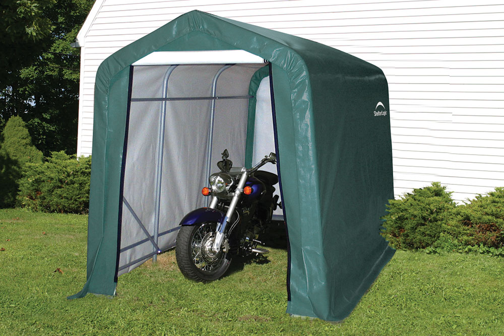 style home p with shelterlogic shelter sheds x green en ft round cover