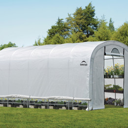 3,7×6,1×2,4 m Round Style Powder Coated 1-5/8″ Frame with Side Vents, 2-Zipper Door with Screened Windows