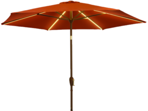 LED Market Patio Umbrella