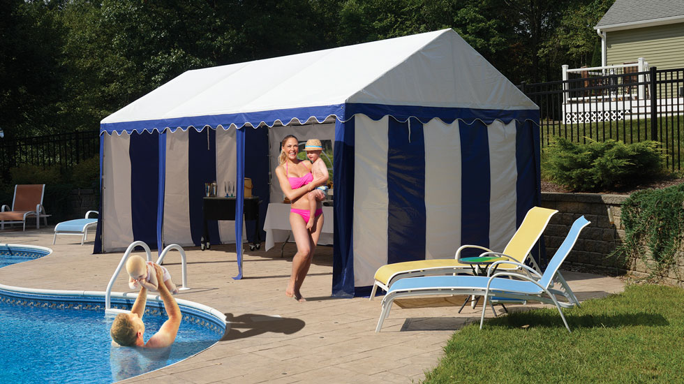 Party Tent Pool Side