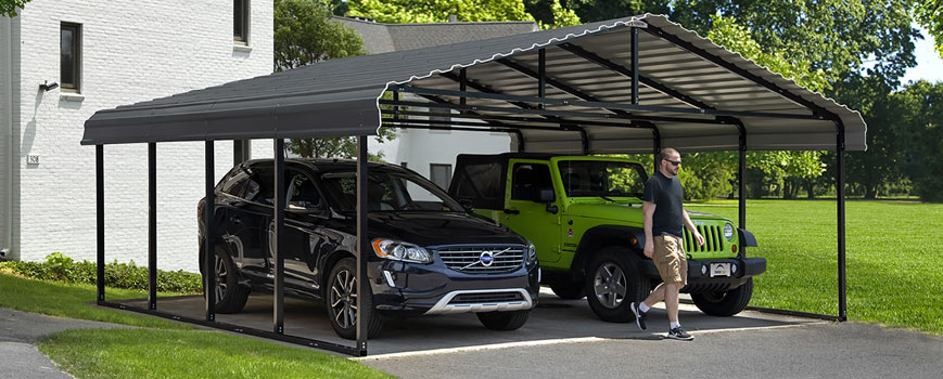Arrow Carport Header