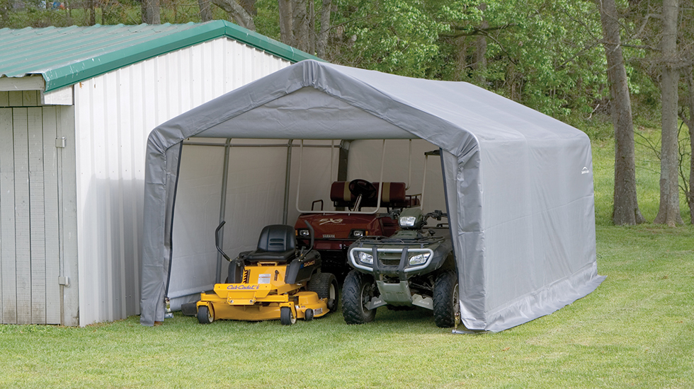 temporary storage & ShelterLogic Corp. | Shade Shelter and Storage