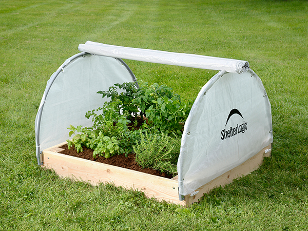 early growing raised bed greenhouse