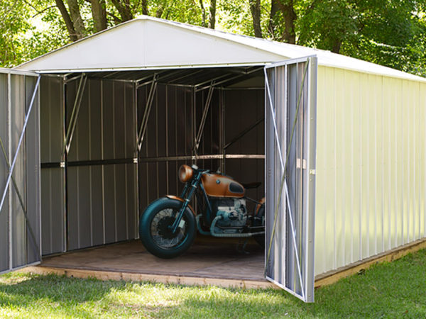 commander shed, arrow shed, motorcycle shed
