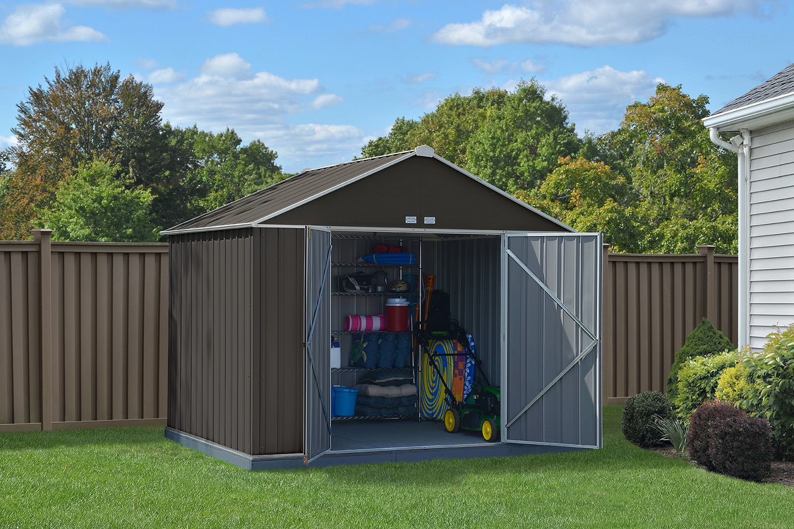 EZEE Shed Charcoal with Cream Trim