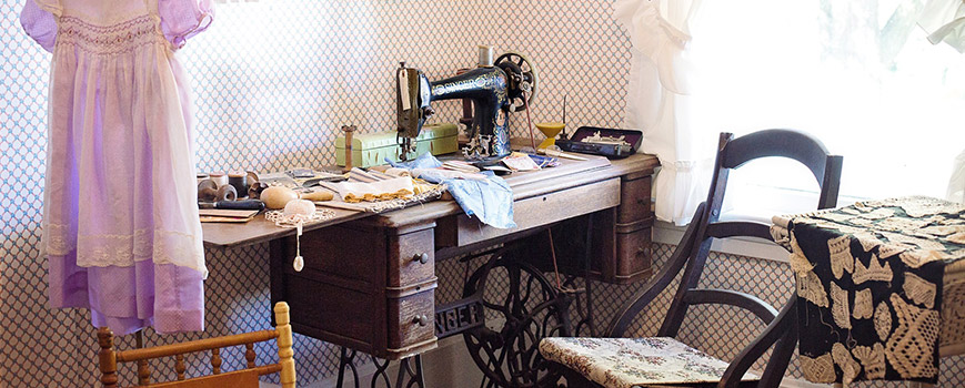 sewing in a she shed