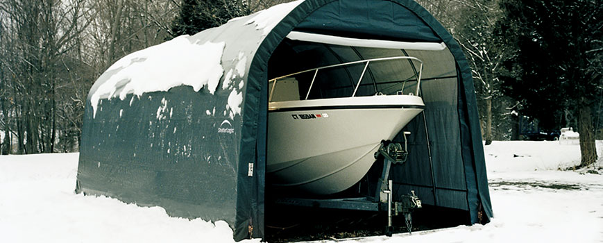 Keep snow and debris off your tarp building