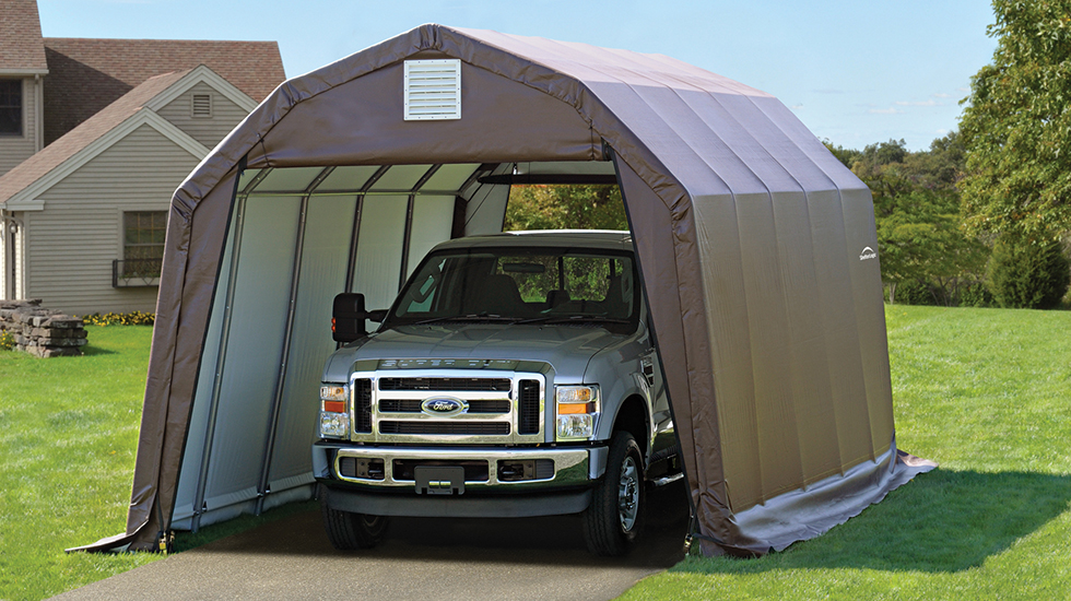 Tent Garage Kits : Portable building kits from garages to greenhouses and