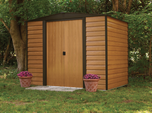 wording shed, arrow garden shed