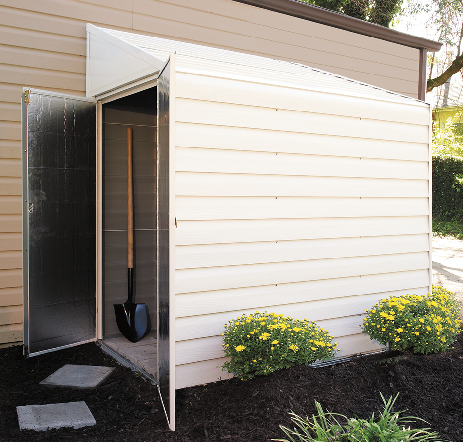 Backyard organization these backyard sheds will transform your cluttered outdoor space - Garden sheds with lean to ...